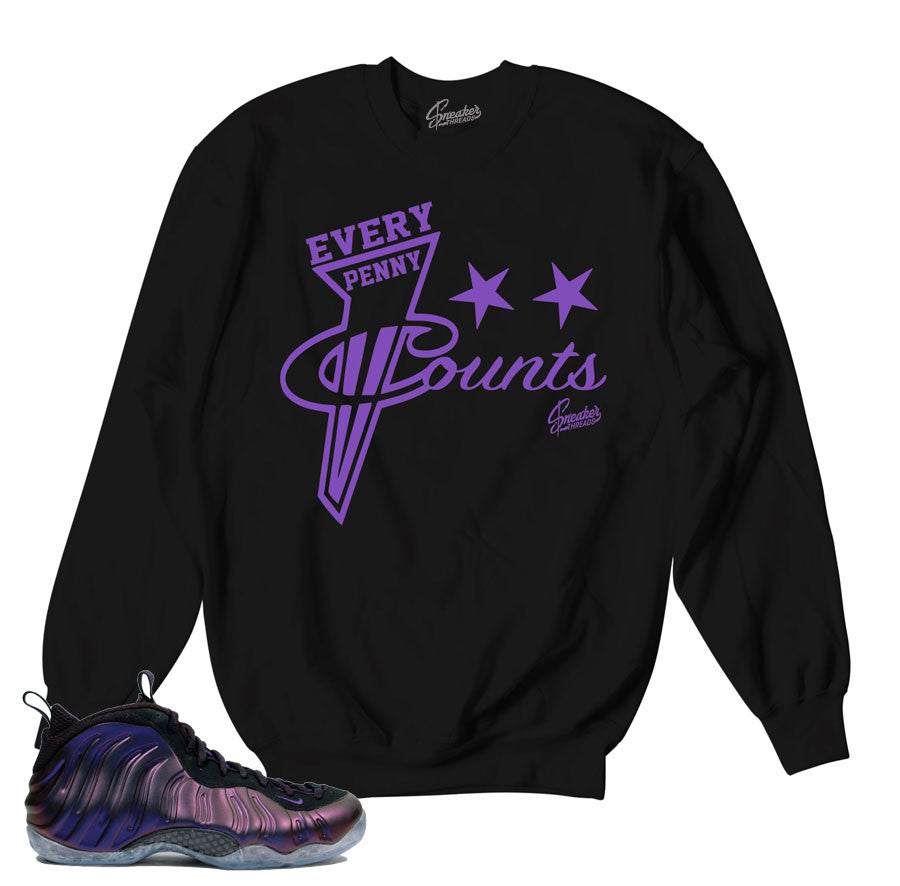 Foamposite Eggplant Sweater - Every Penny - Black