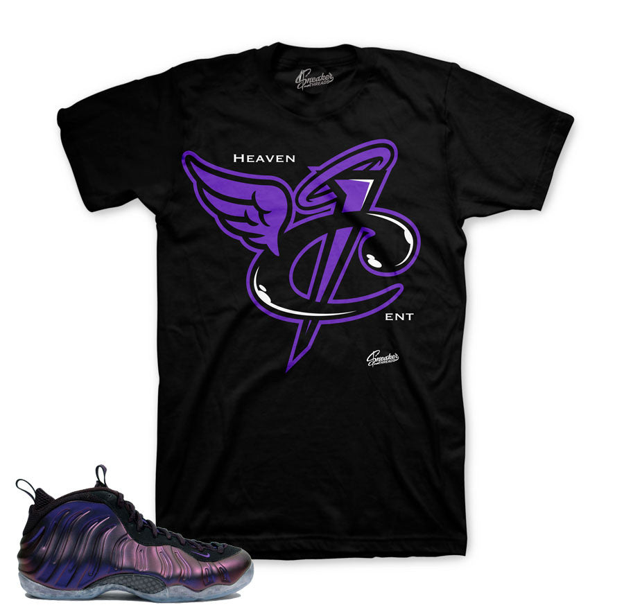 huge selection of ff3ff 0b820 Eggplant foam official matching sneaker tees foamposite.