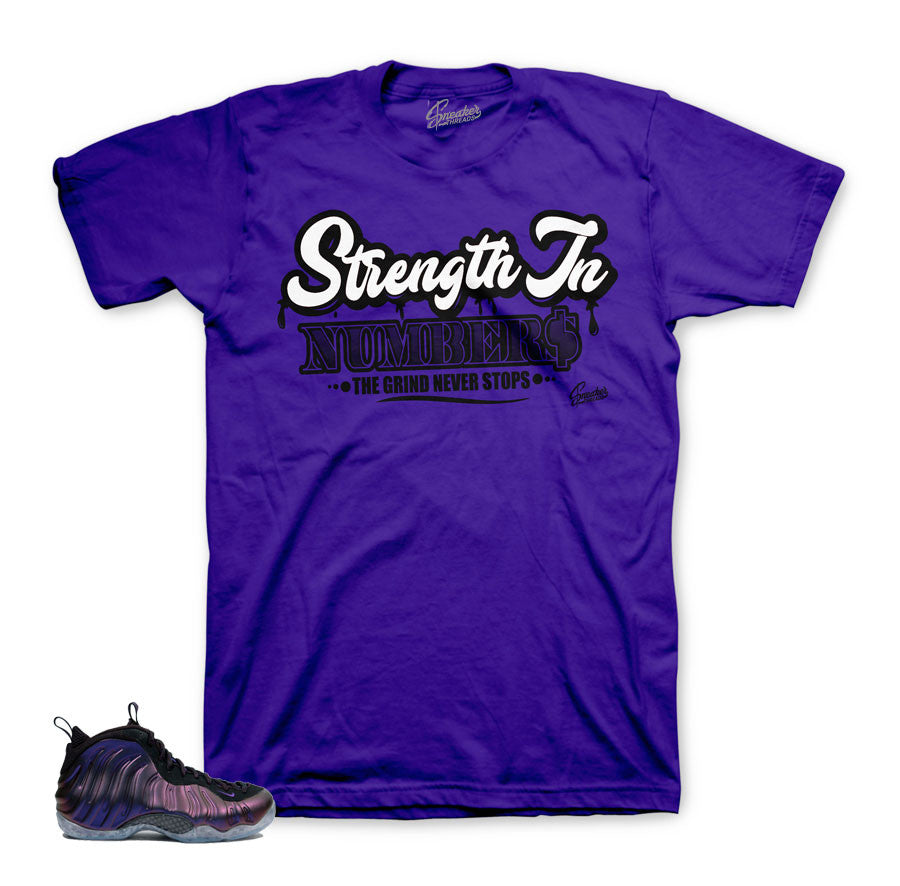 Foamposite eggplant tees | Official matching clothing