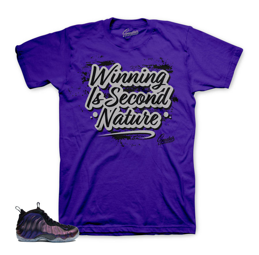 Official clothing to match fomaposite eggplant foams.