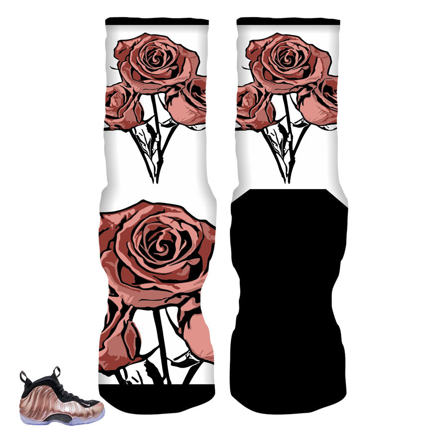 Foamposite elemental rose socks match foam shoes | elite socks.