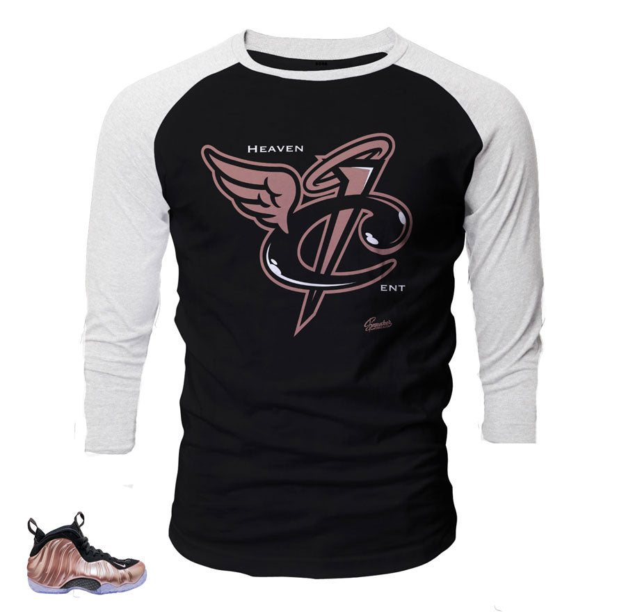 Foamposite elemental rose raglan match foam shoes.