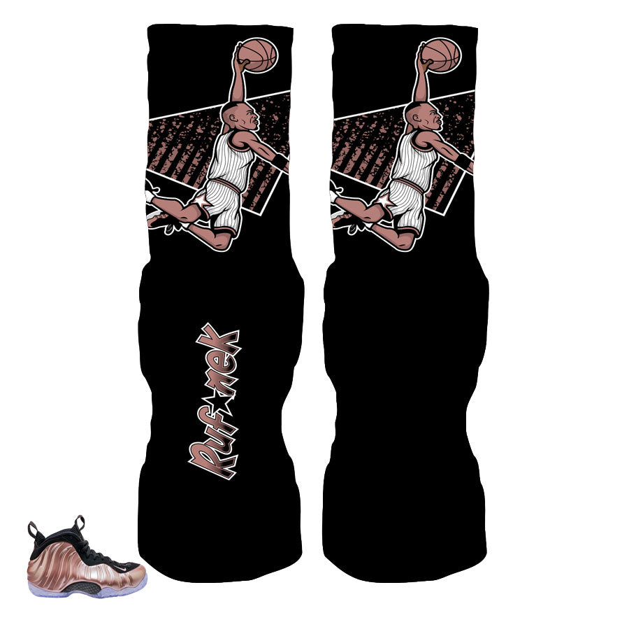The freshest elite socks to match foamposite elemental rose