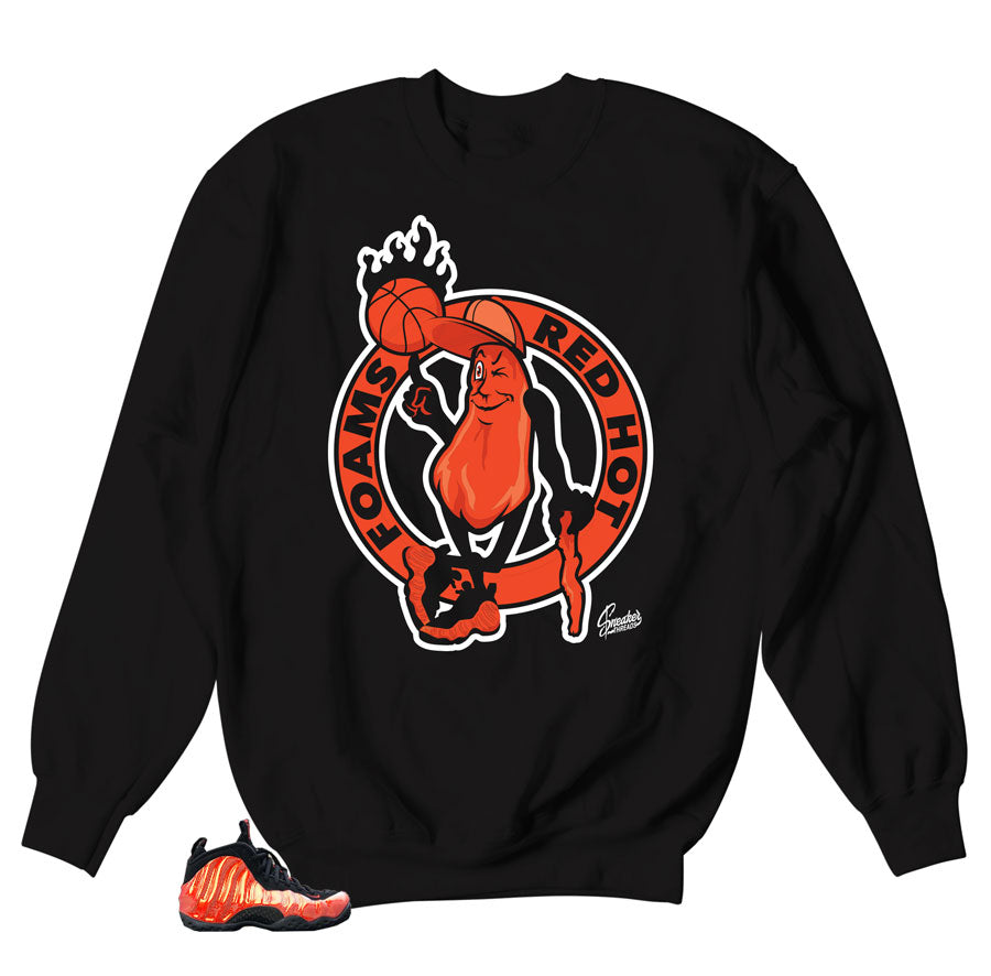 78f8ed1e444c3 Home Foamposite Habanero Red Sweater - Spicy - Black. Share