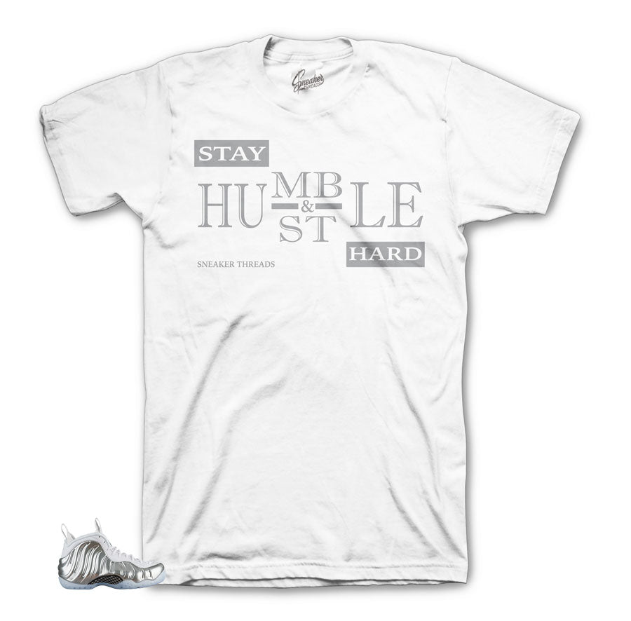 Foamposite Chrome Shirt - Stay Humble - White