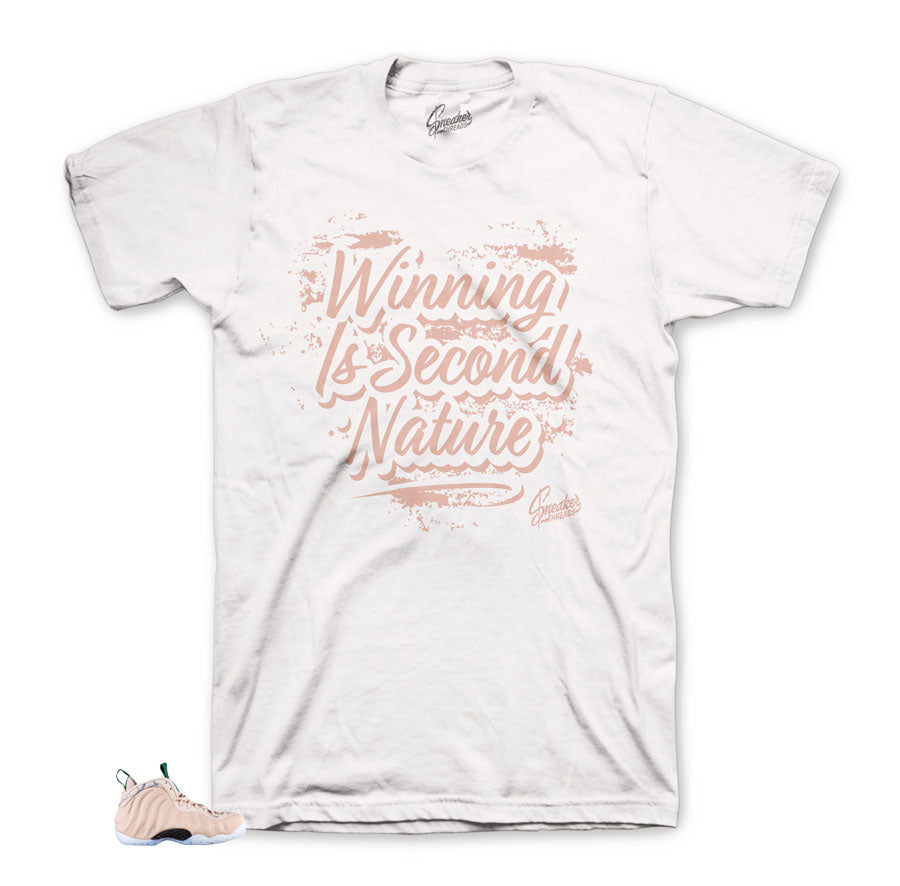 Foamposite particle beige second nature tee