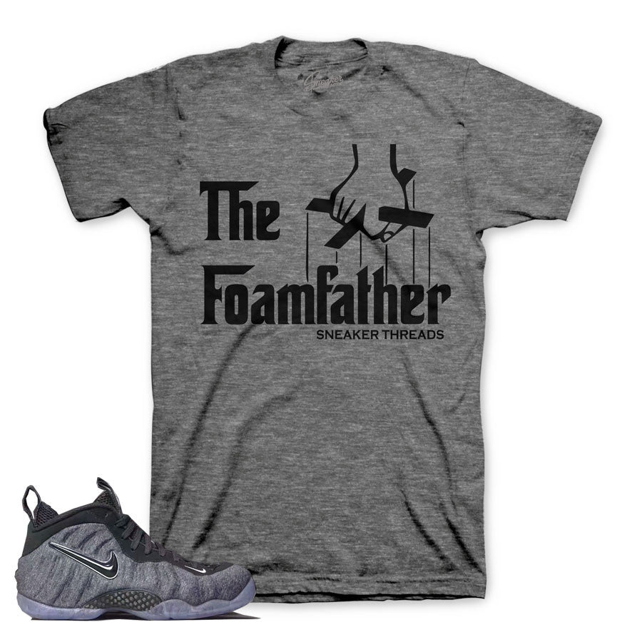 Foamposite tech fleece shirts match foam wool sneakers.