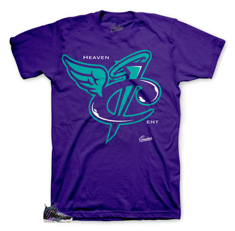iridescent foamposite sneaker tees match foams perfectly.