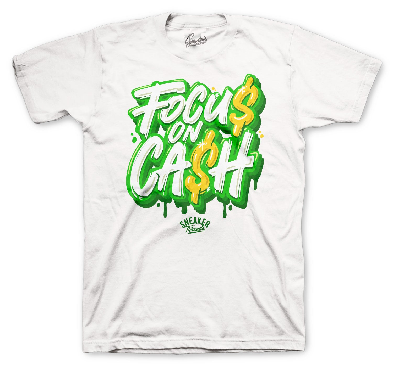 Jordan 4 Green Metallic Shirt - Focus On $ - White