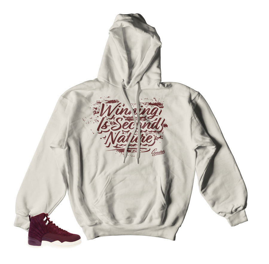 Hooded sweater match Jordan 12 bordeaux sneaker sweaters.