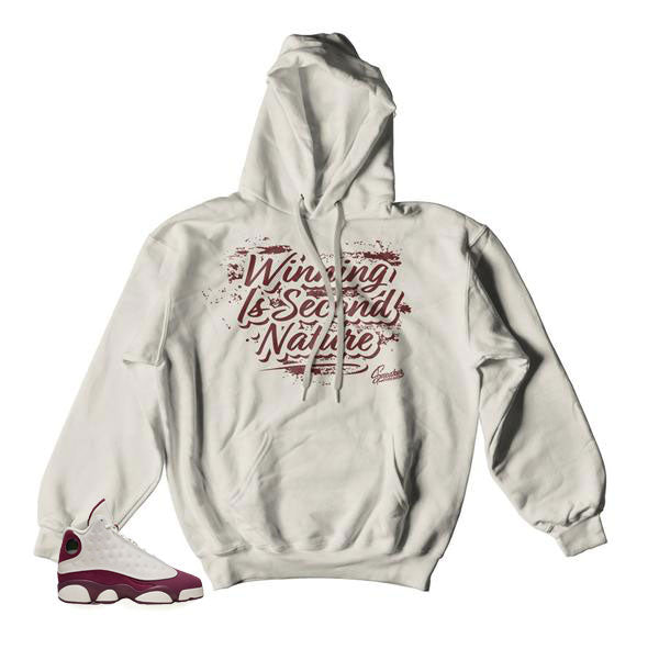 Jordan 13 bordeaux sail hoodies match retro 13 hoody.