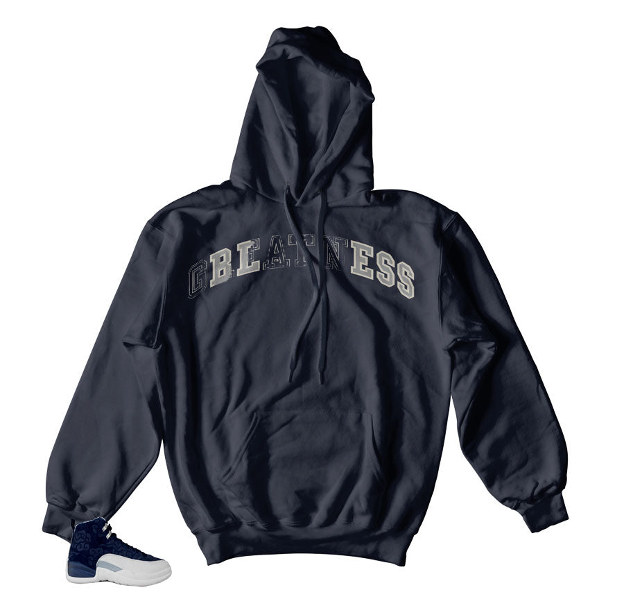 Jordan 12 Japan Hoody - Bless Stitch - Navy