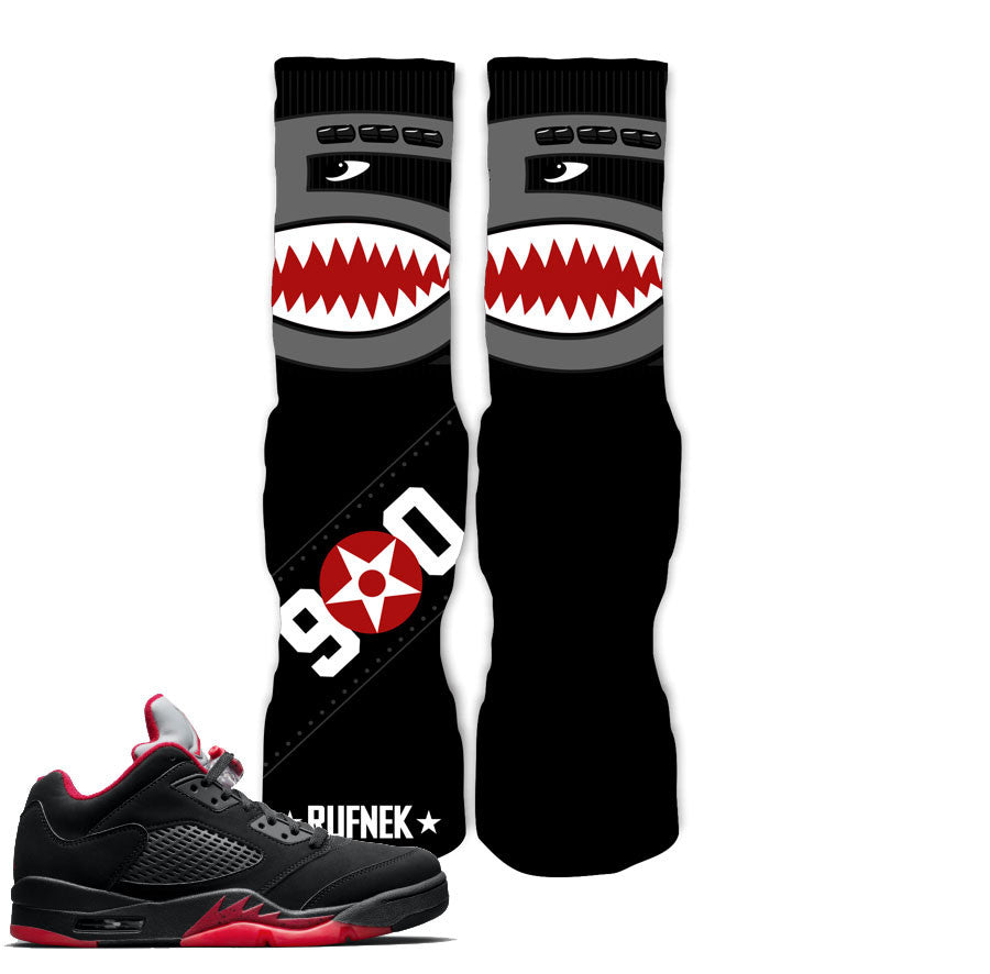 Jordan 5 Alternate Socks - Flying 5