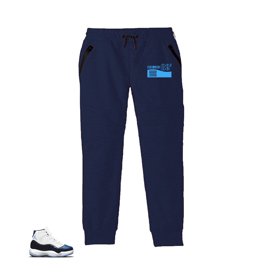 Jogger pants match jordan 11 win like 82 sweatpants midnight navy.