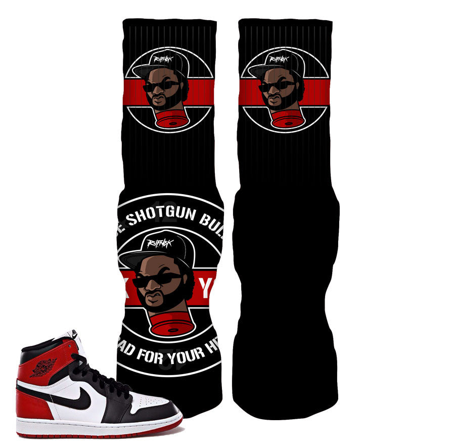 Elite socks match Jordan 1 black toe retro 1 fresh socks.