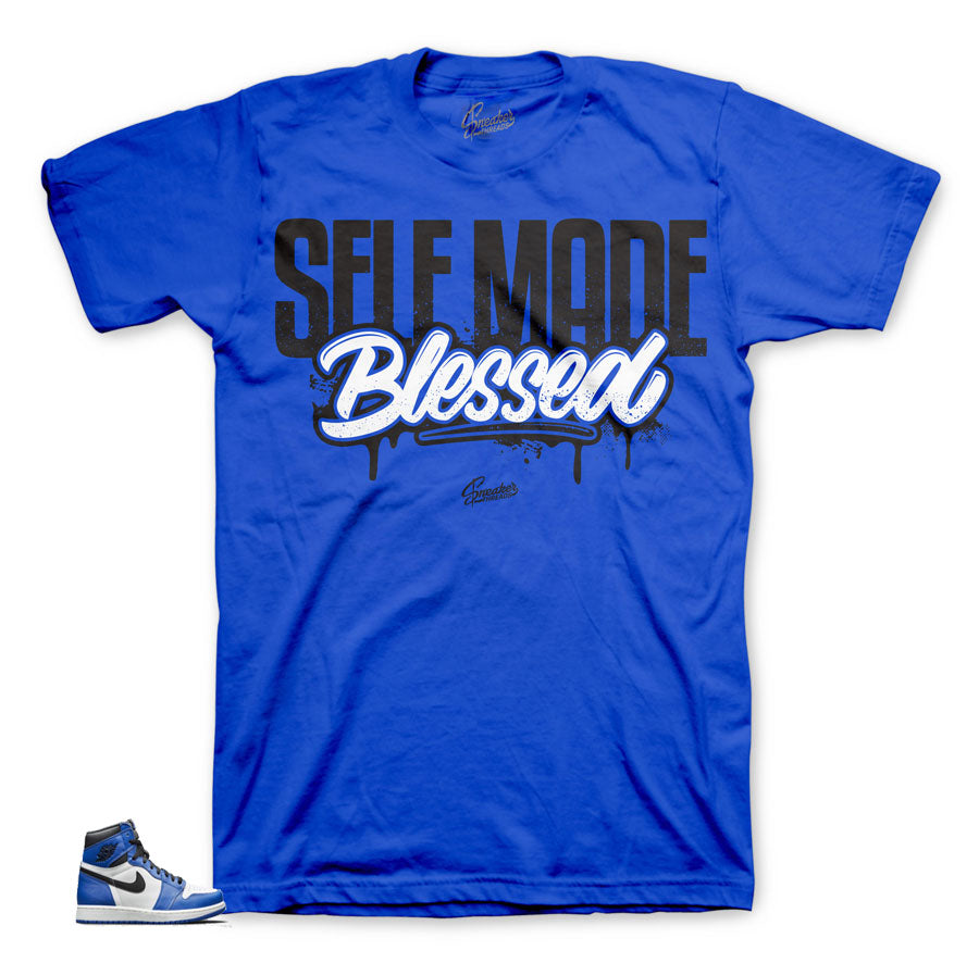 Jordan 1 game royals sneaker tees | Official matching shirts.