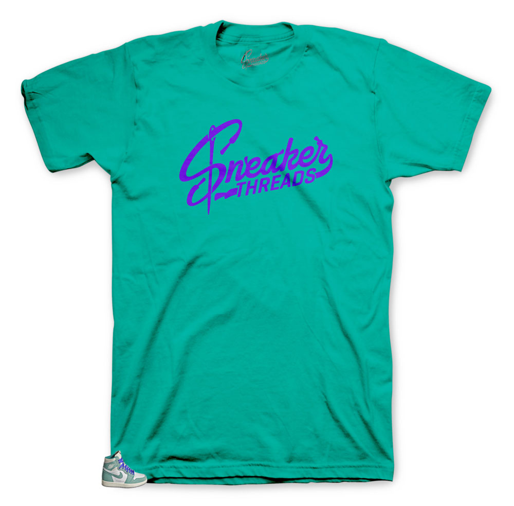 shirts to match the sneaker Jordan green turbo 1 collection