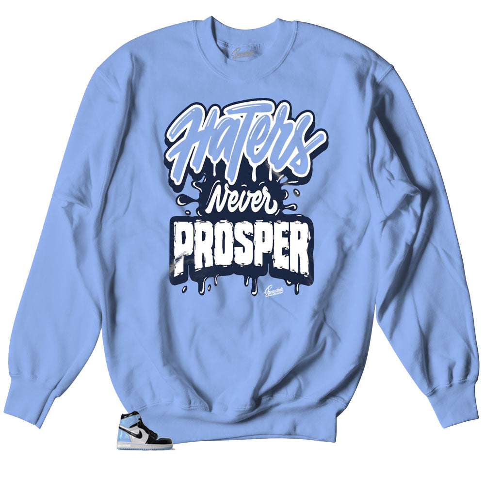 crewneck designed to match sneaker Jordan 1 unc patent leather