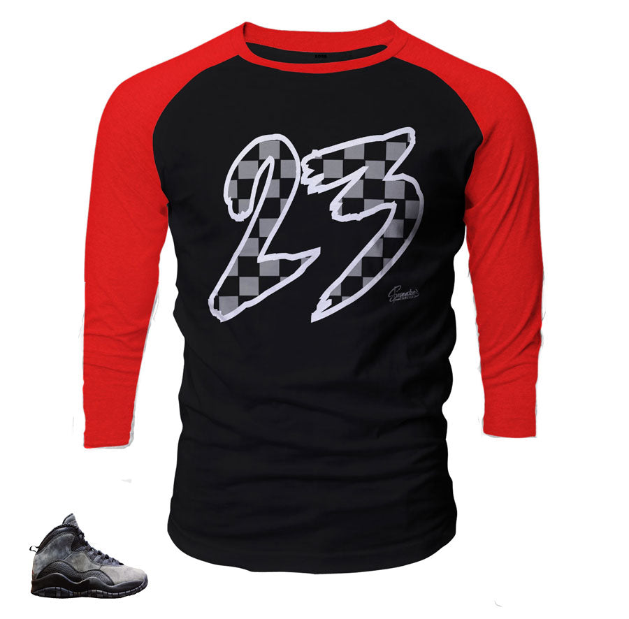 Jordan 10 shadow raglan shirts match retro 10 shoes.