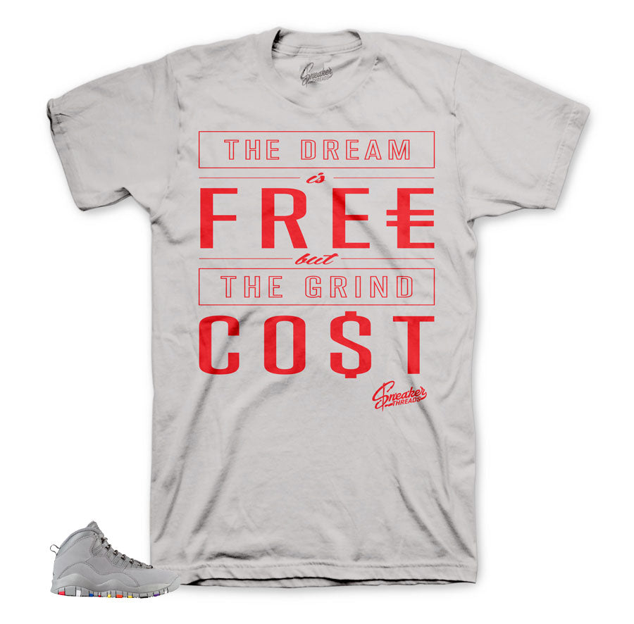 Jordan 10 cool grey shirts match retro 10 | Fresh sneaker tees.