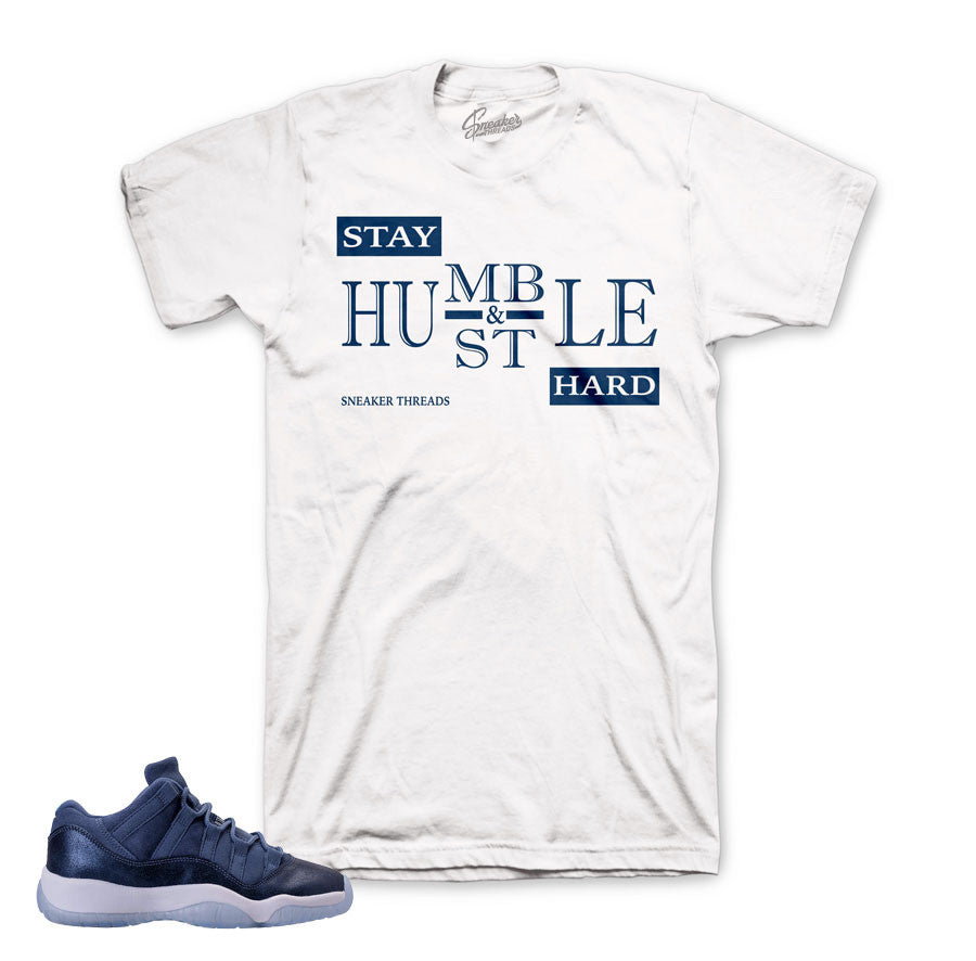 1473f455f51d4a Home Jordan 11 Blue Moon Shirt - Humble - White. Share