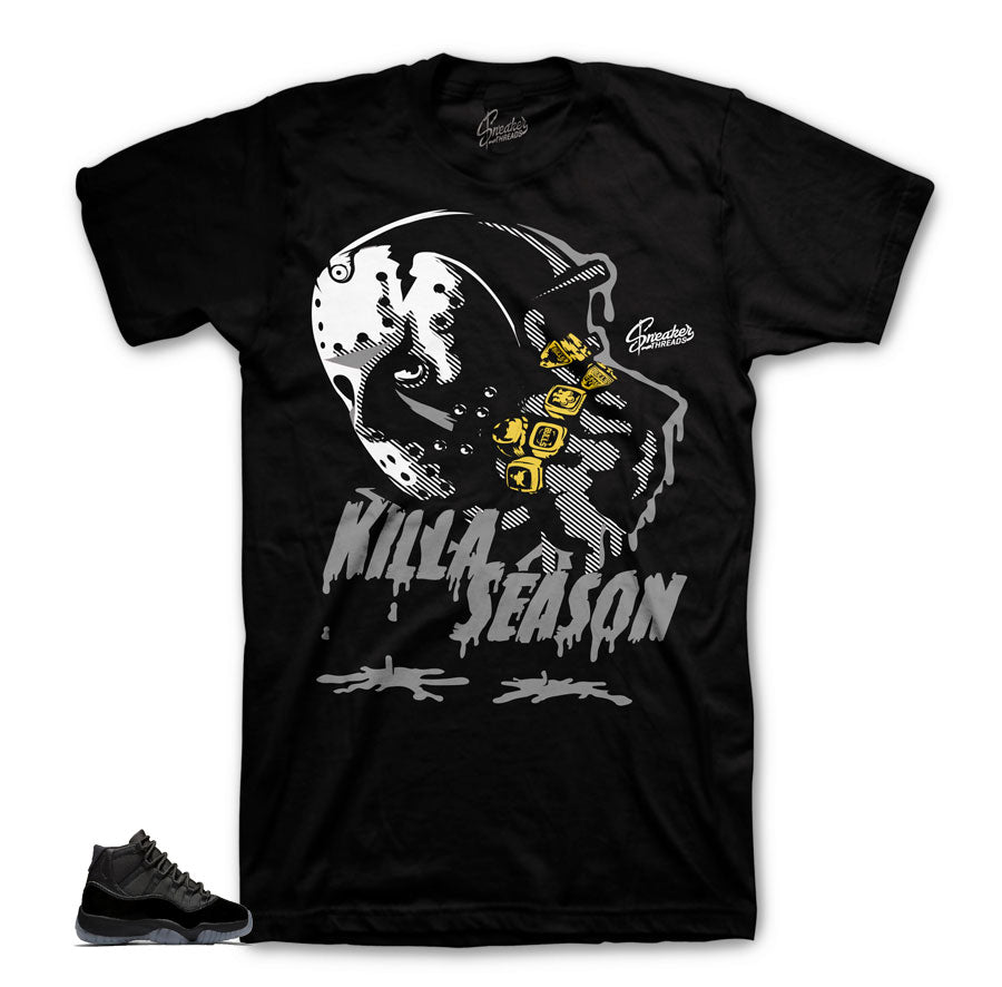 Jordan 11 Cap & Gown Killa  Season Matching Shirt