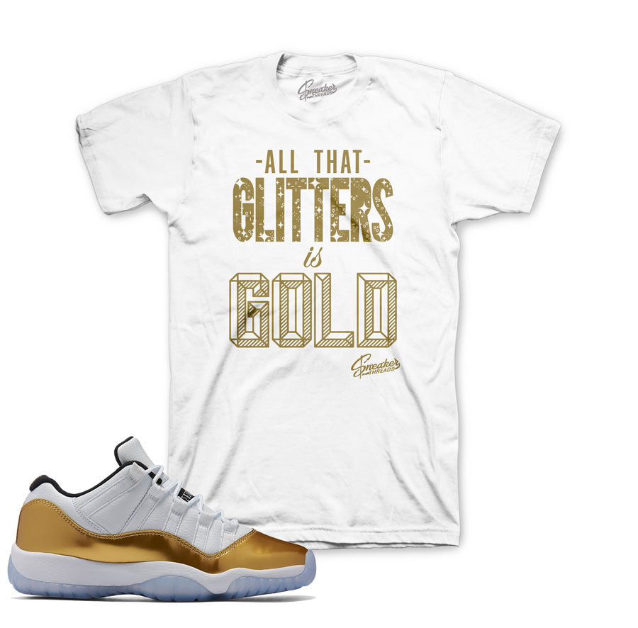 new style 002d2 d9670 ... Jordan 11 closing ceremony tees match retro 11 gold sneaker shirts.