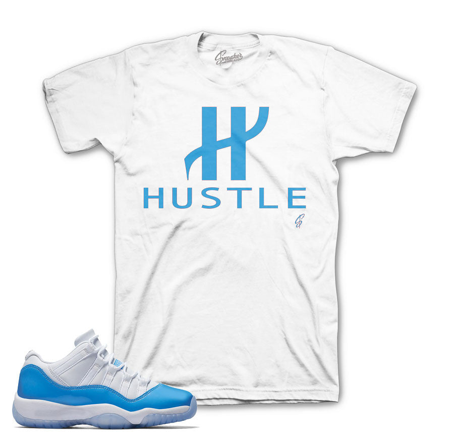 Jordan 11 university blue tee | sneaker match tees shirts