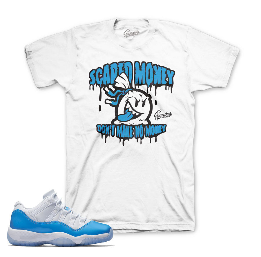 University blue 11 tees match Jordan 11 low shoes.