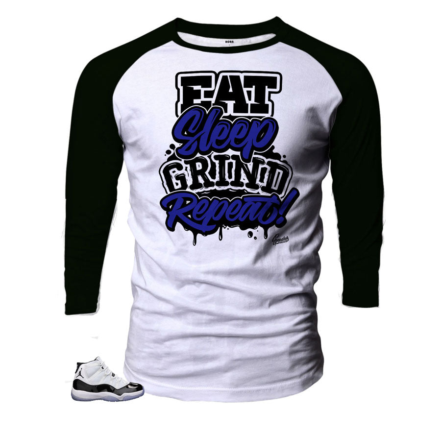 Grind Repeat Matching Raglan for Concord 11's