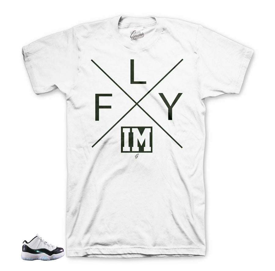 Jordan 11 easter official matching apparel | Emerald green tees.
