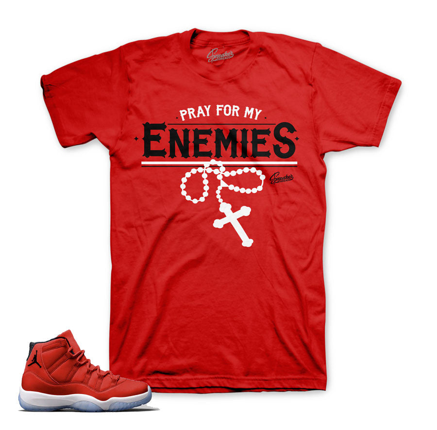Jordan 11 Gym Red shirts match | sneaker match tees