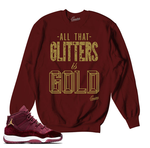 Jordan 11 Heiress Sweater - Glitters - Maroon