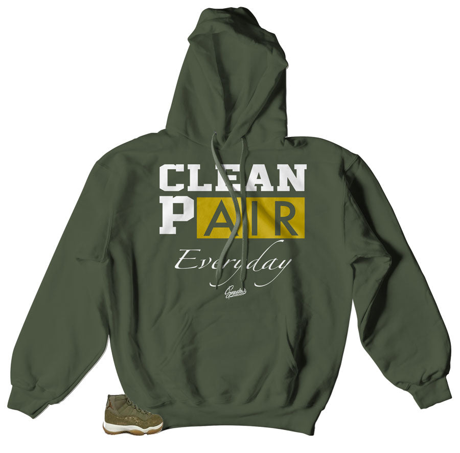 Hoodies perfect to match for jordan 11 olive lux wmn