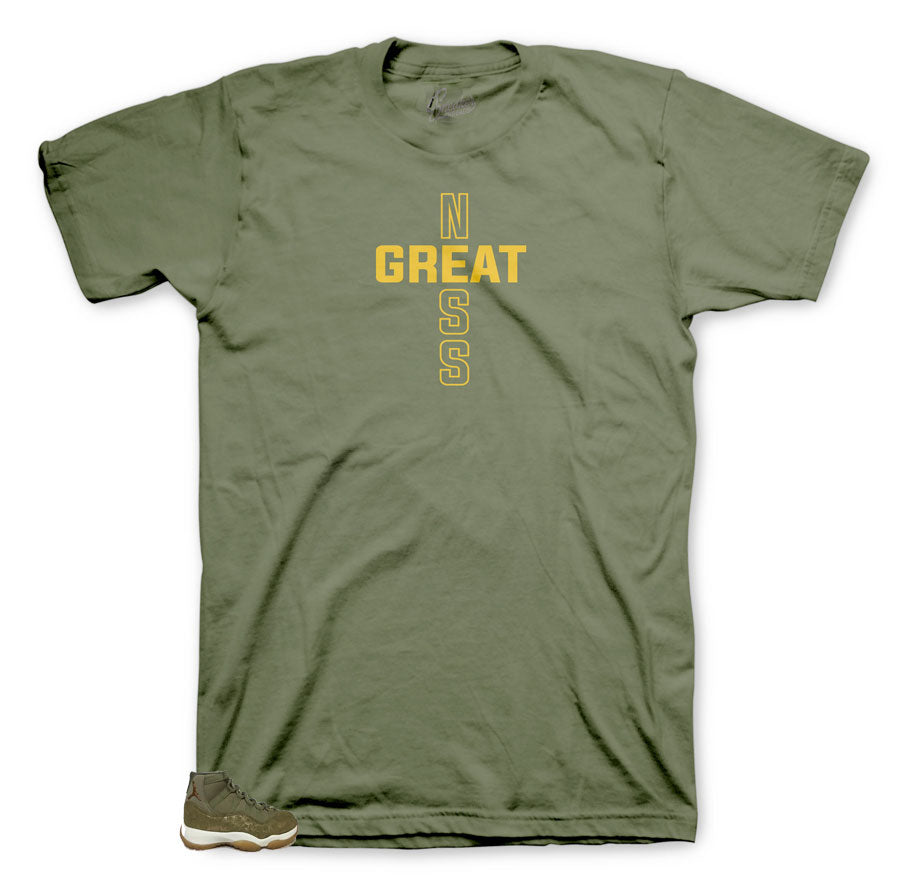 Greatness Shirt Olive collection to match with Jordan 11 Olive Lux Women shoes