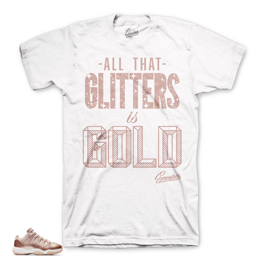 c62b8d6449480a Jordan 11 rose gold shirts official matching sneaker tee shirts.
