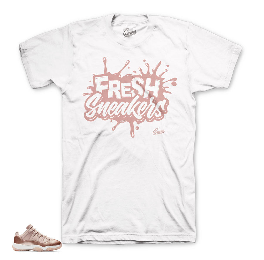 Jordan 11 rose gold shirts match | Official matching sneaker tees.