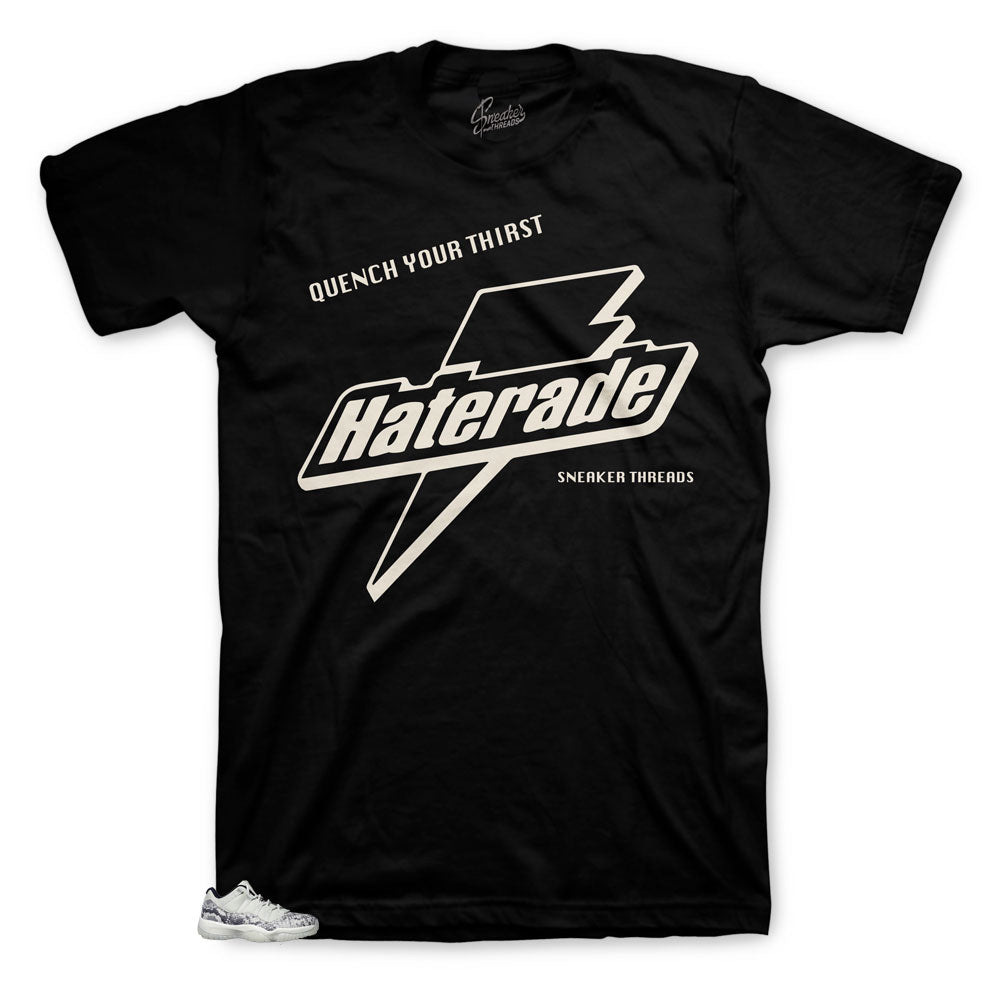 Haterade cool shirt to match perfect with Jordan 11 Snakeskin Bone