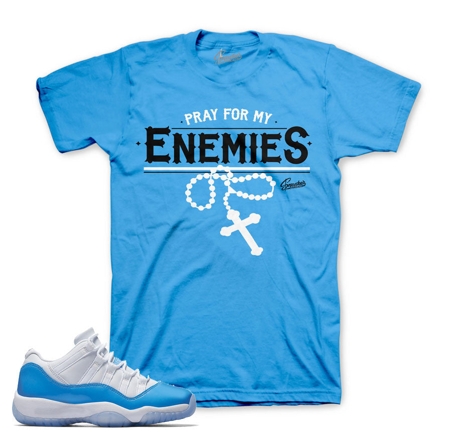 University blue Jordan 11 shirts match UNC sneaker tee.