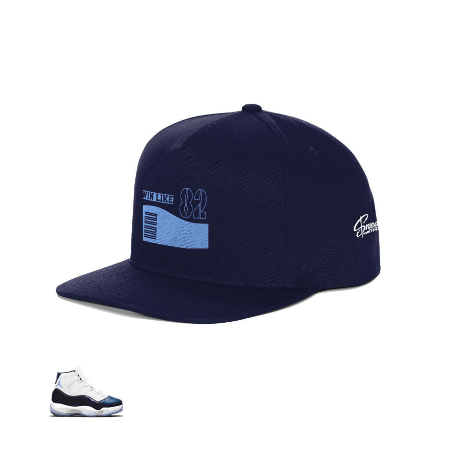 Snapback hats match Jordan 11 win like 82 retro 11 shoes.