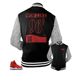 Jordan 11 gym red jackets match retro 11 chicago jackets.