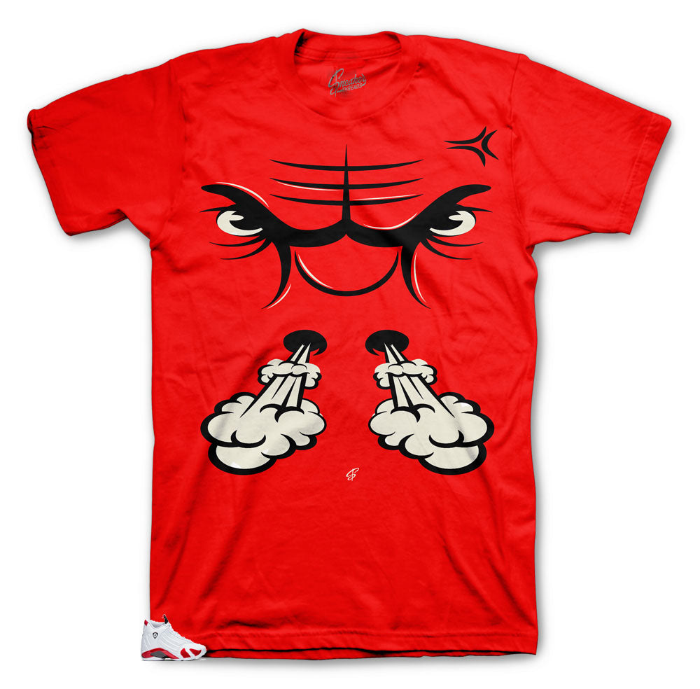 Bullface shirt to wear with Jordan 14 Candy cane