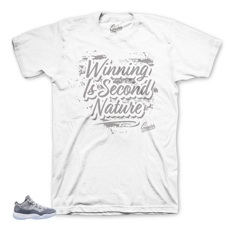 Official matching clothing and apparelfor Jordan 11 cool grey.