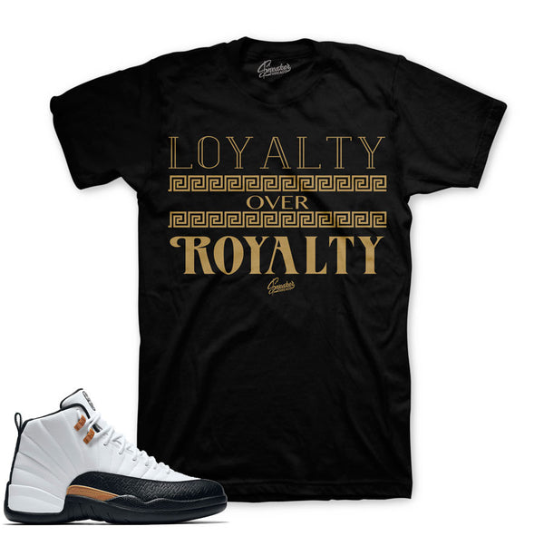 Jordan 12 CNY Shirt - Loyalty Over Royalty - Black