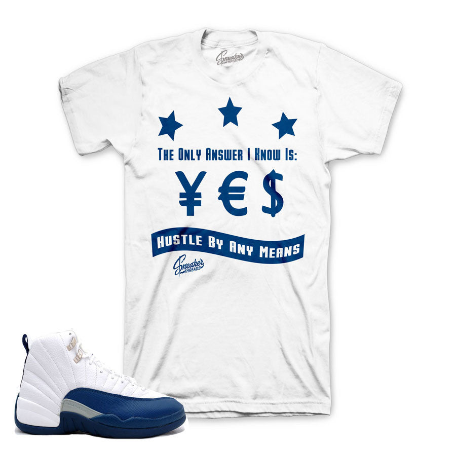 ef74e8d0edf4e0 Match Jordan 12 french blue shirts retro 12 sneaker tees.