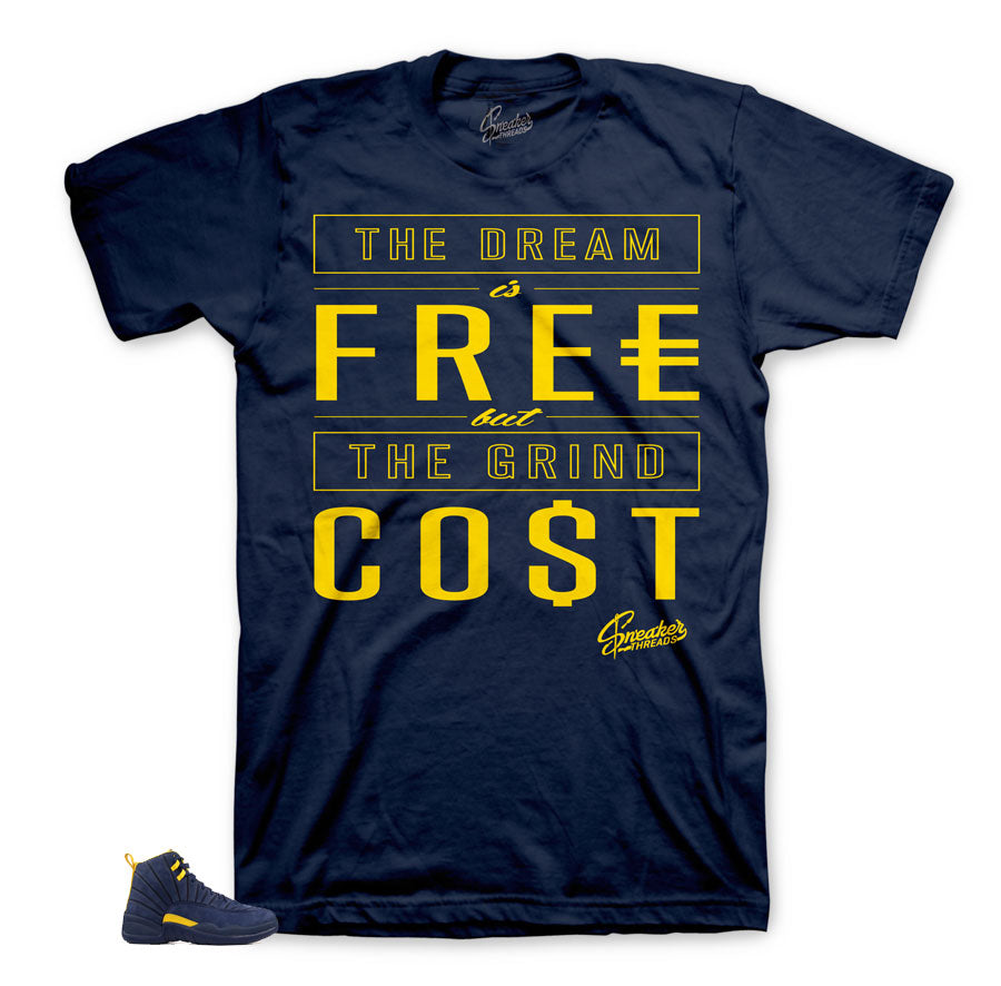 Cost matching tee for Michigan 12's