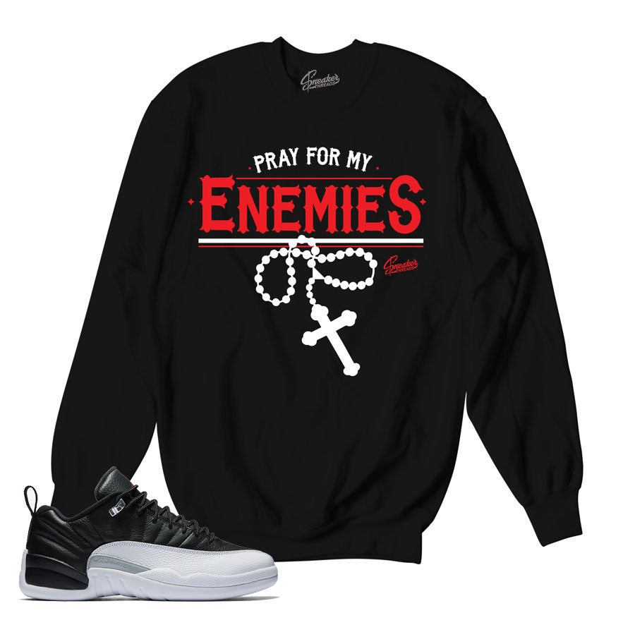 Sweaters match Jordan 12 low playoff retro 12 shoes.