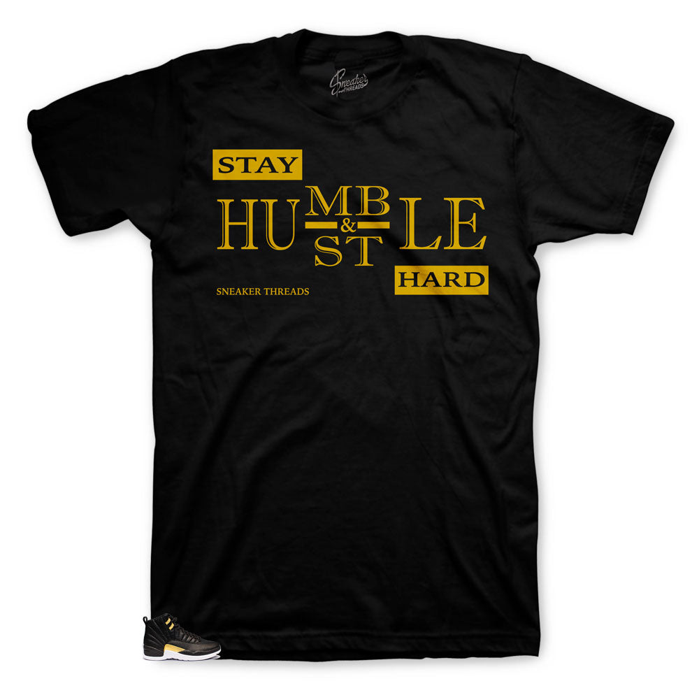 Humble gold shirt to match Jordan 12 Reptile shoe releasing