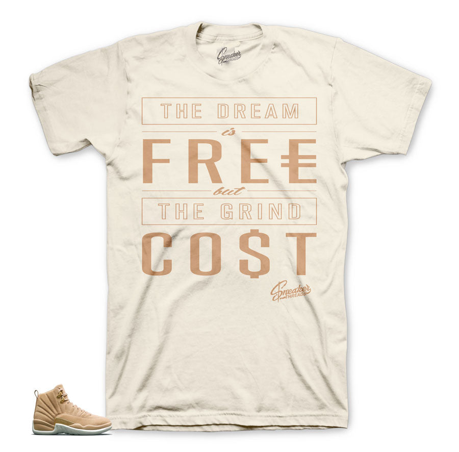Jordan 12 vachetta tan clothing | Official matching retro 12 tees.