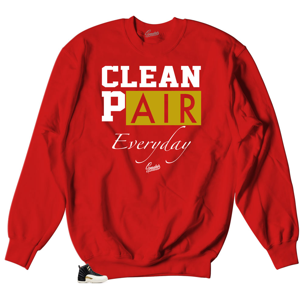 Everyday Clean crewnecks collection| Jordan 12 Chinese new Year